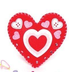 První šití, srdce, červené, 1 kus