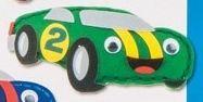 První šití, závodní auto, 1 ks, zelené