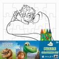 Puzzle k vymalování, dinosaurus