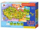 Puzzle, mapa Česká republika, 120 dílků