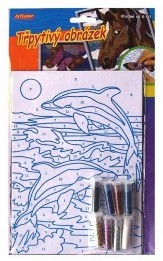 Třpytivý obrázek, delfín