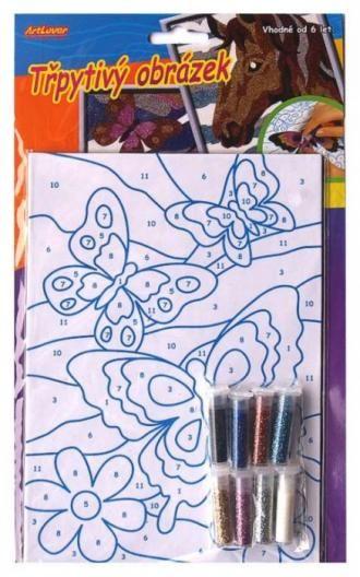 Třpytivý obrázek, motýl