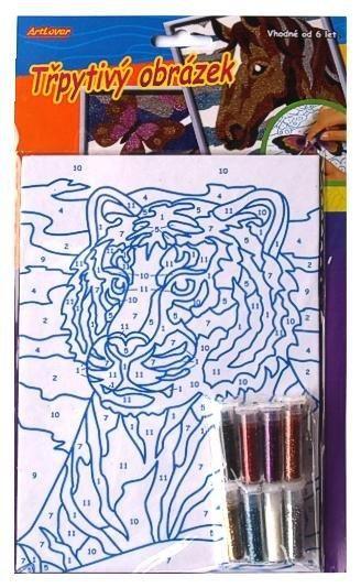 Třpytivý obrázek, tygr