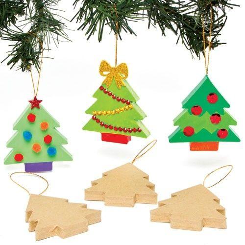 Vánoční stromeček k dekoraci, karton, velikost cca 7 cm, 1 ks